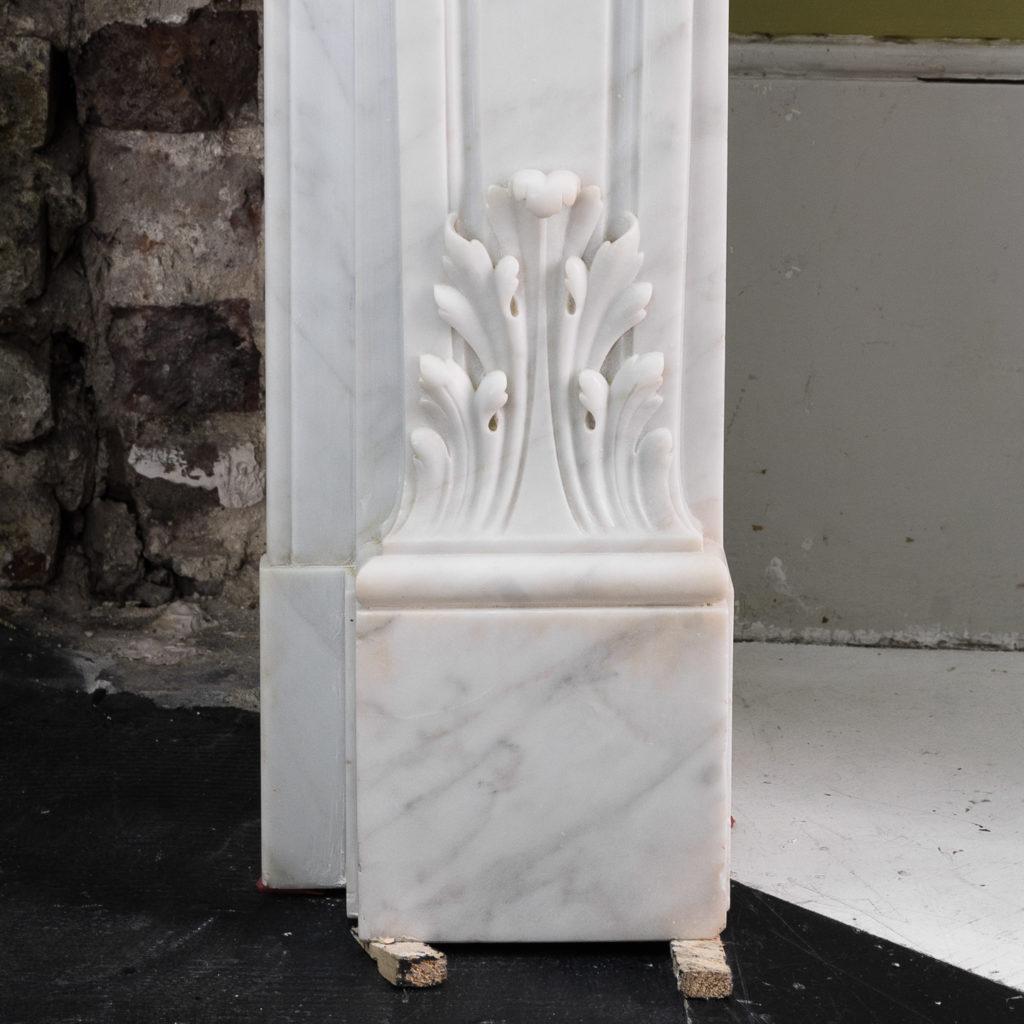 Louis XIV style Carrara marble chimneypiece,-118942