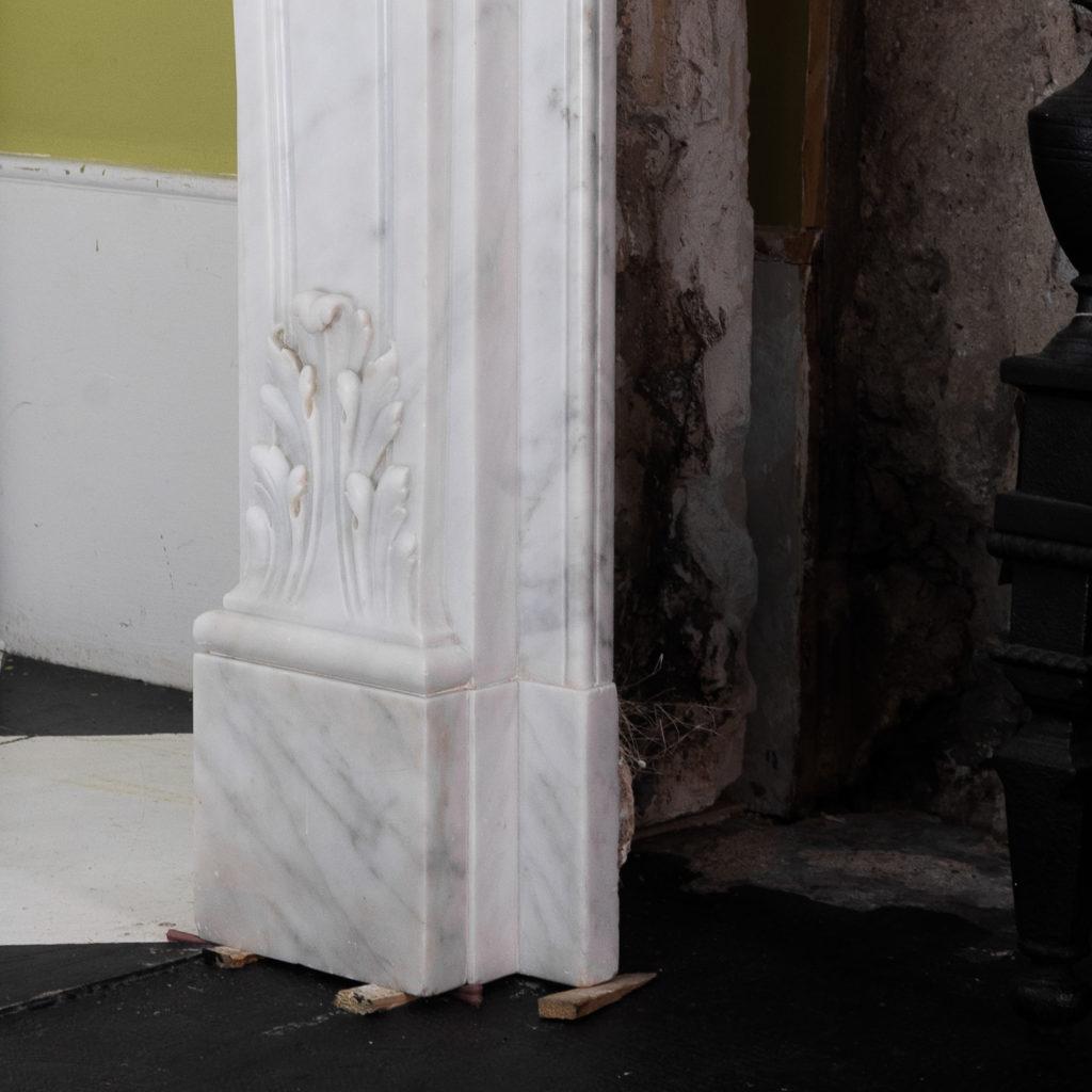 Louis XIV style Carrara marble chimneypiece,-118927