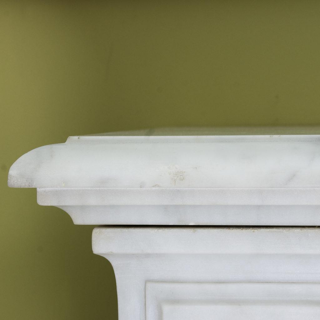 Louis XIV style Carrara marble chimneypiece,-118937