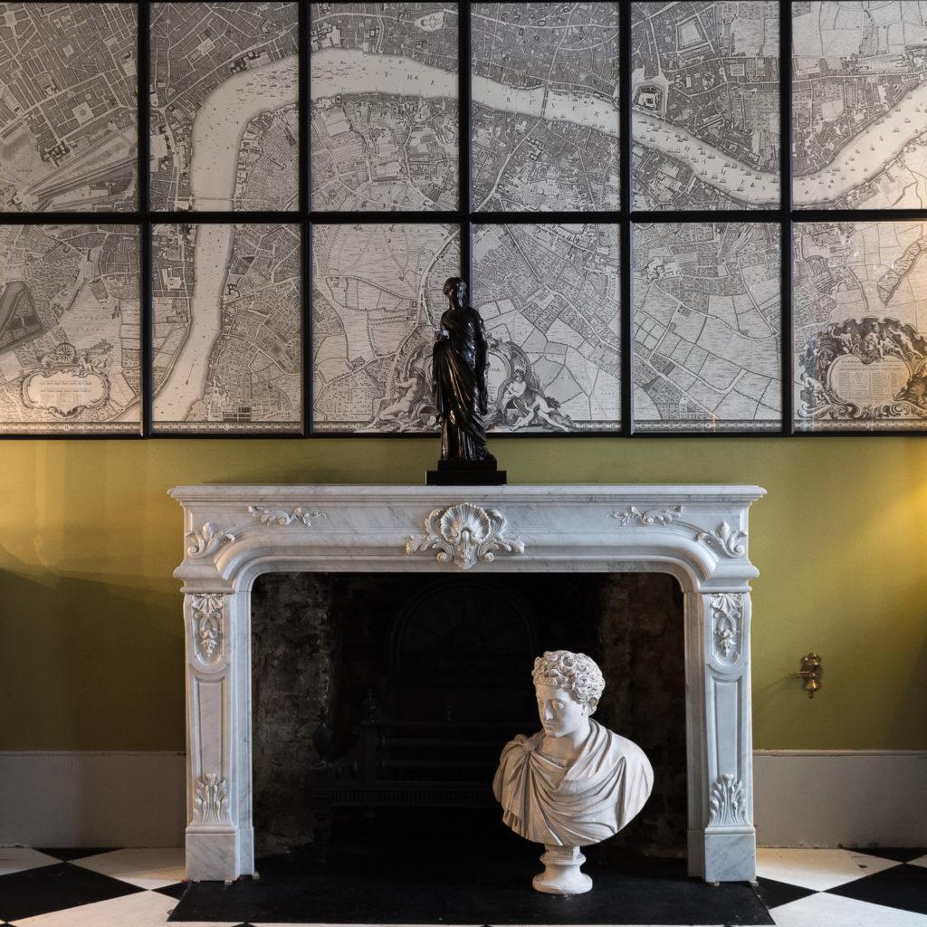 Louis XIV style Carrara marble chimneypiece,-118939