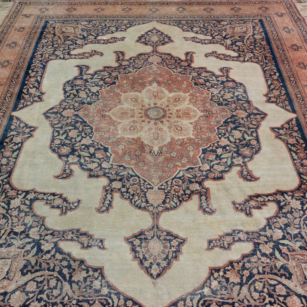 Late nineteenth century Haji Jalili Tabriz rug,-0