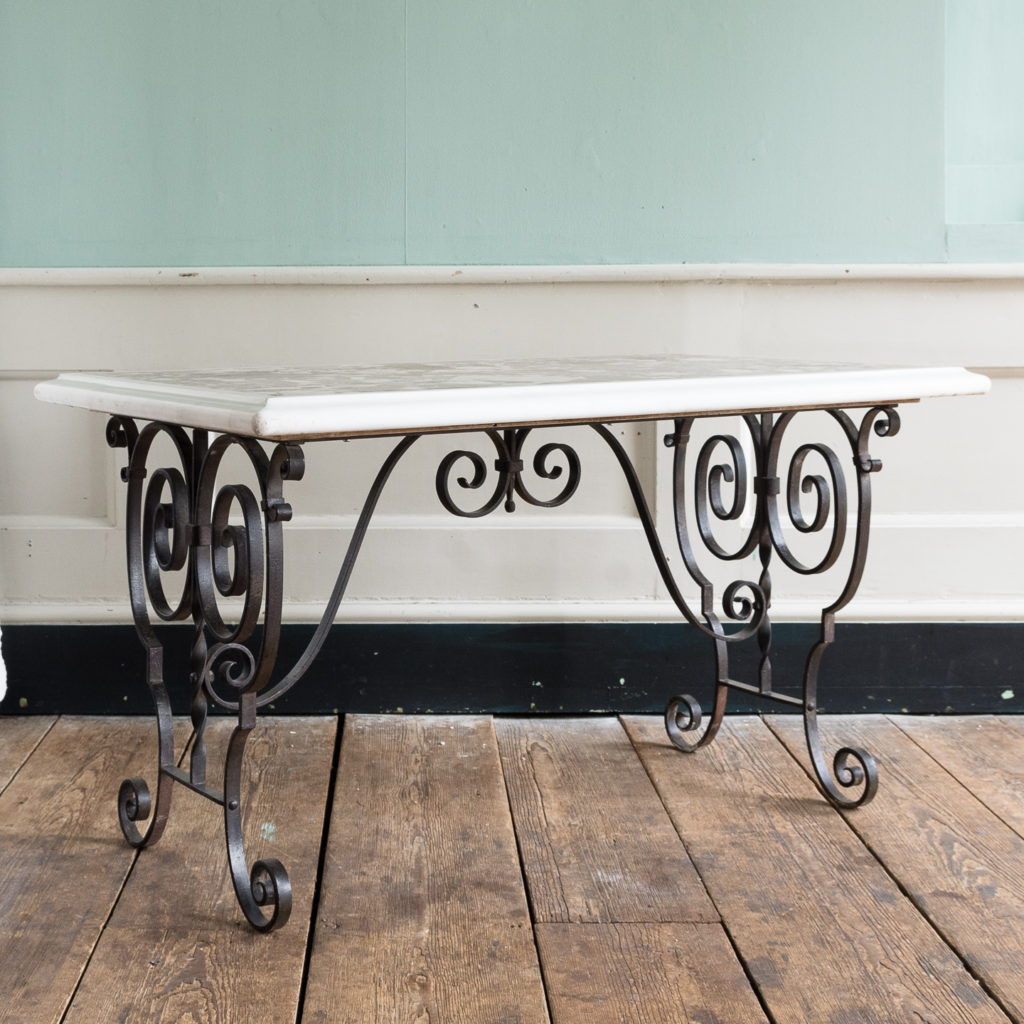 Rectangular marble top table,-118858