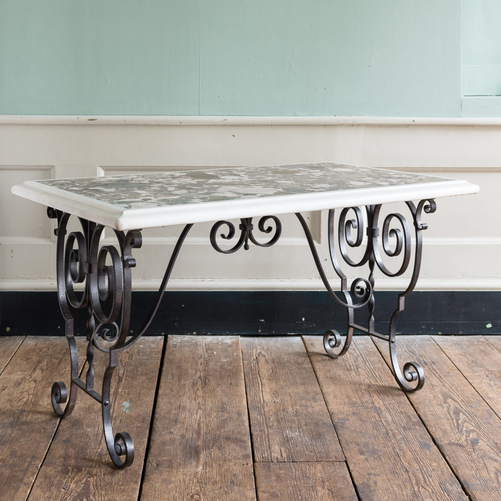 Rectangular marble top table,-0
