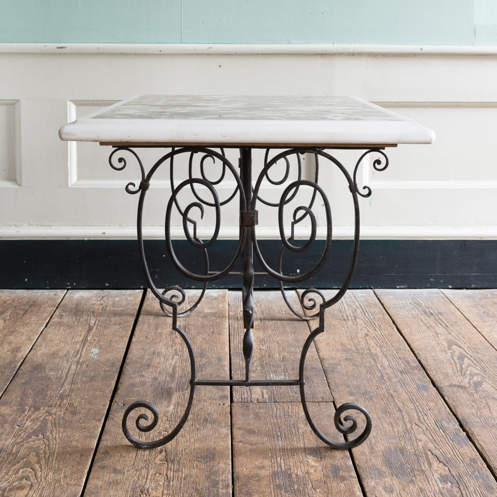 Rectangular marble top table,-118864