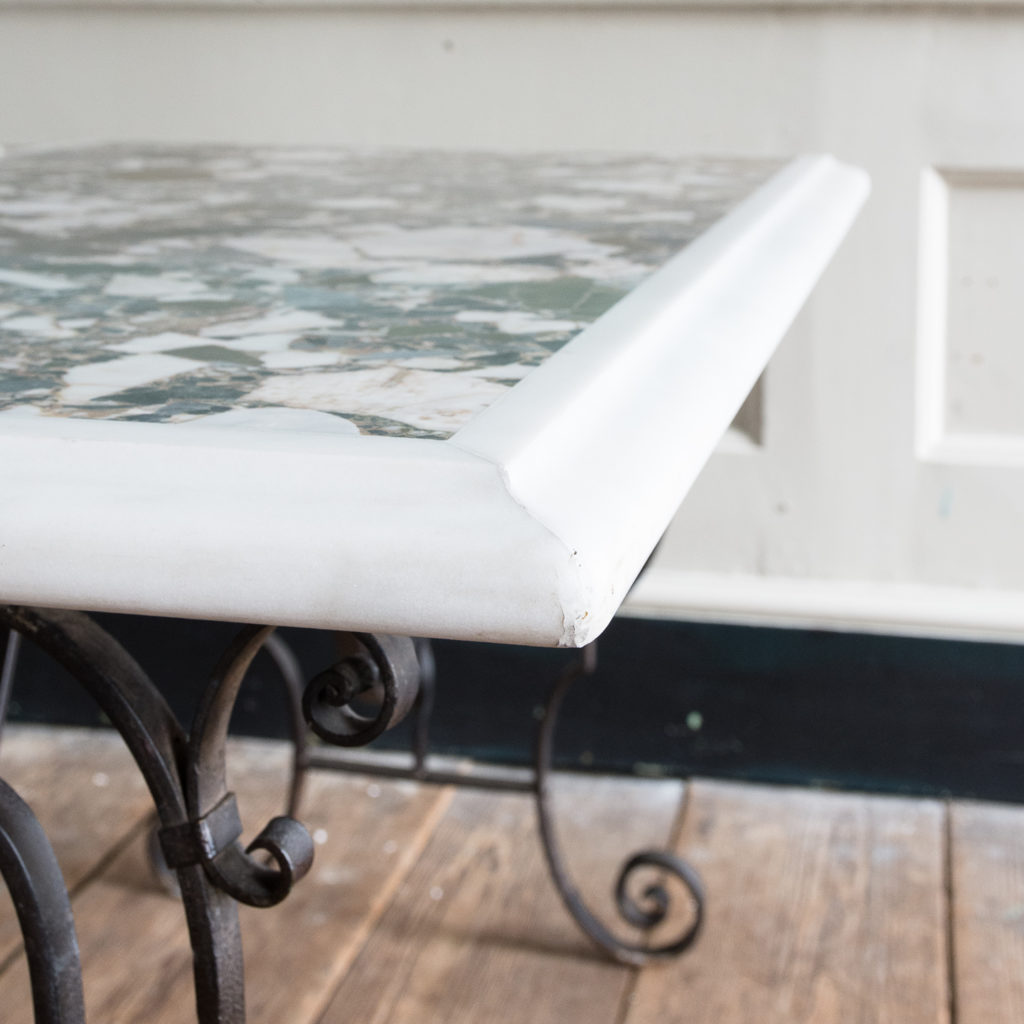 Rectangular marble top table,-118867