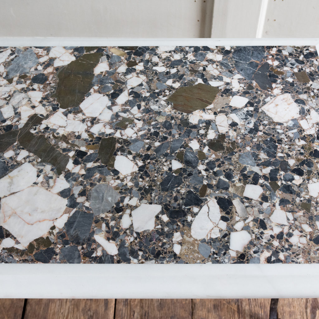 Rectangular marble top table,-118861
