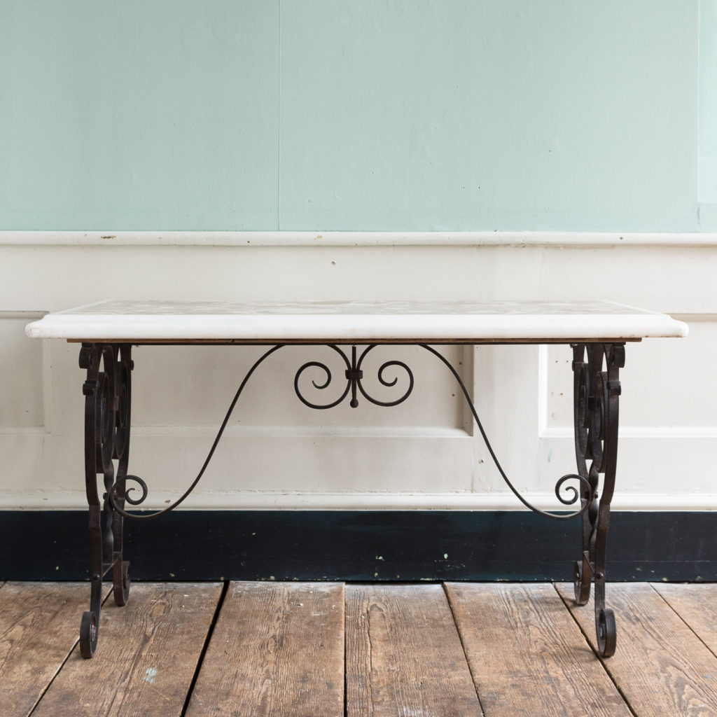 Rectangular marble top table,-118856