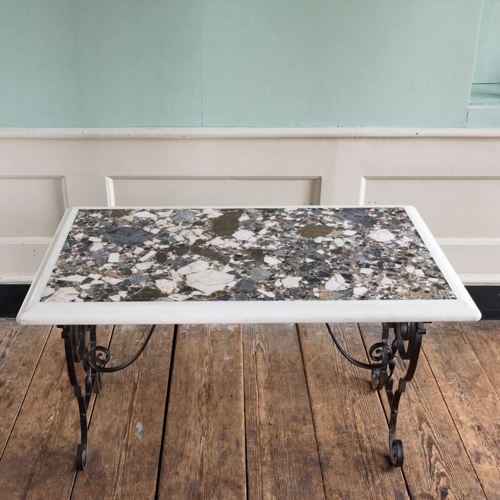 Rectangular marble top table,-118860