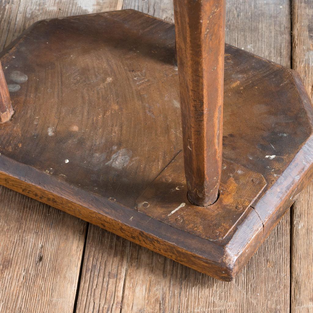 Walnut milking stool,-119525