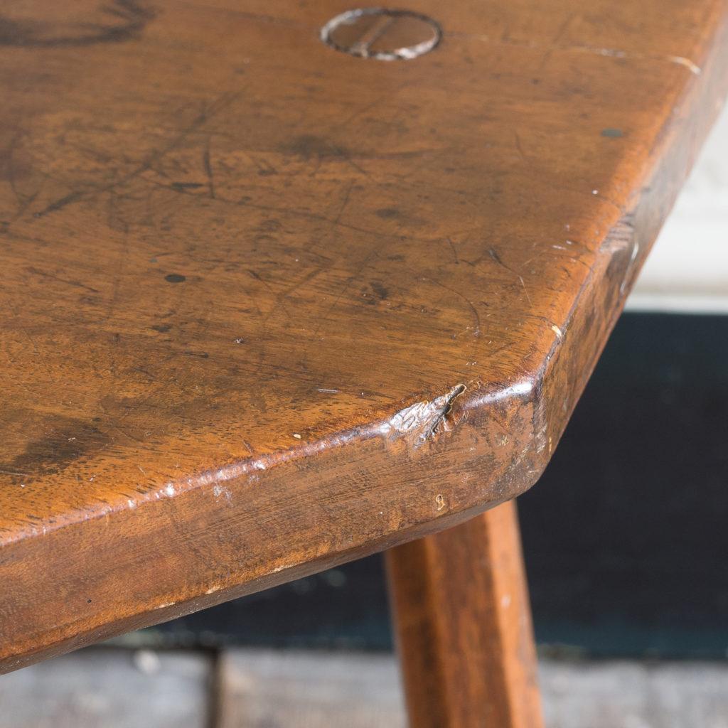 Walnut milking stool,-119524