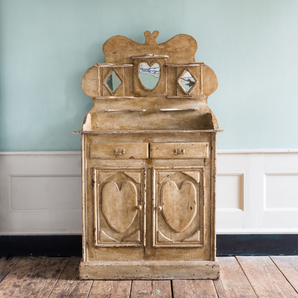 Early twentieth century tramp art dresser,-0