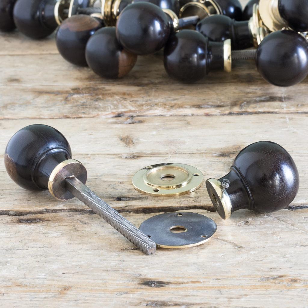 Turned ebony door handles,-119924