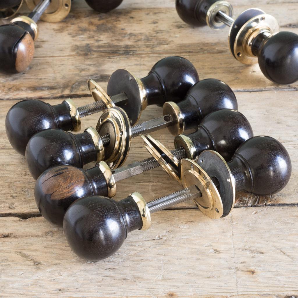Turned ebony door handles,-119922