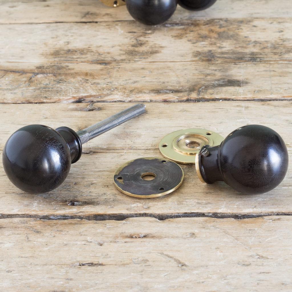 Turned ebony door handle,-119937