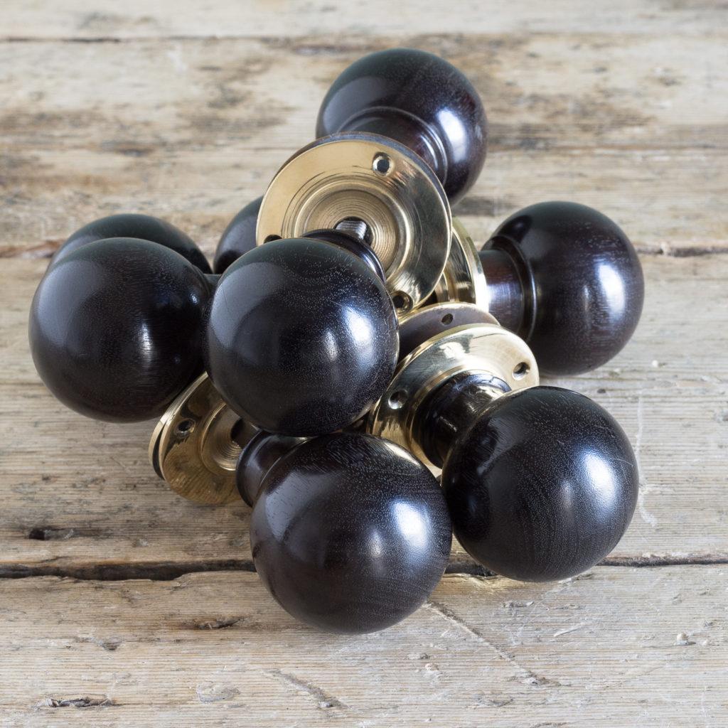 Turned ebony door handle,-119936