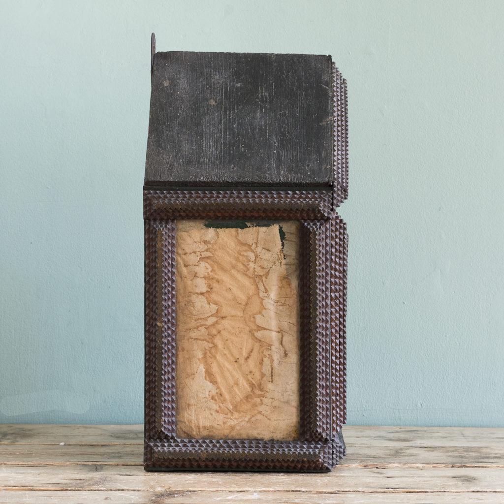 Tramp art wall cupboard,-119966