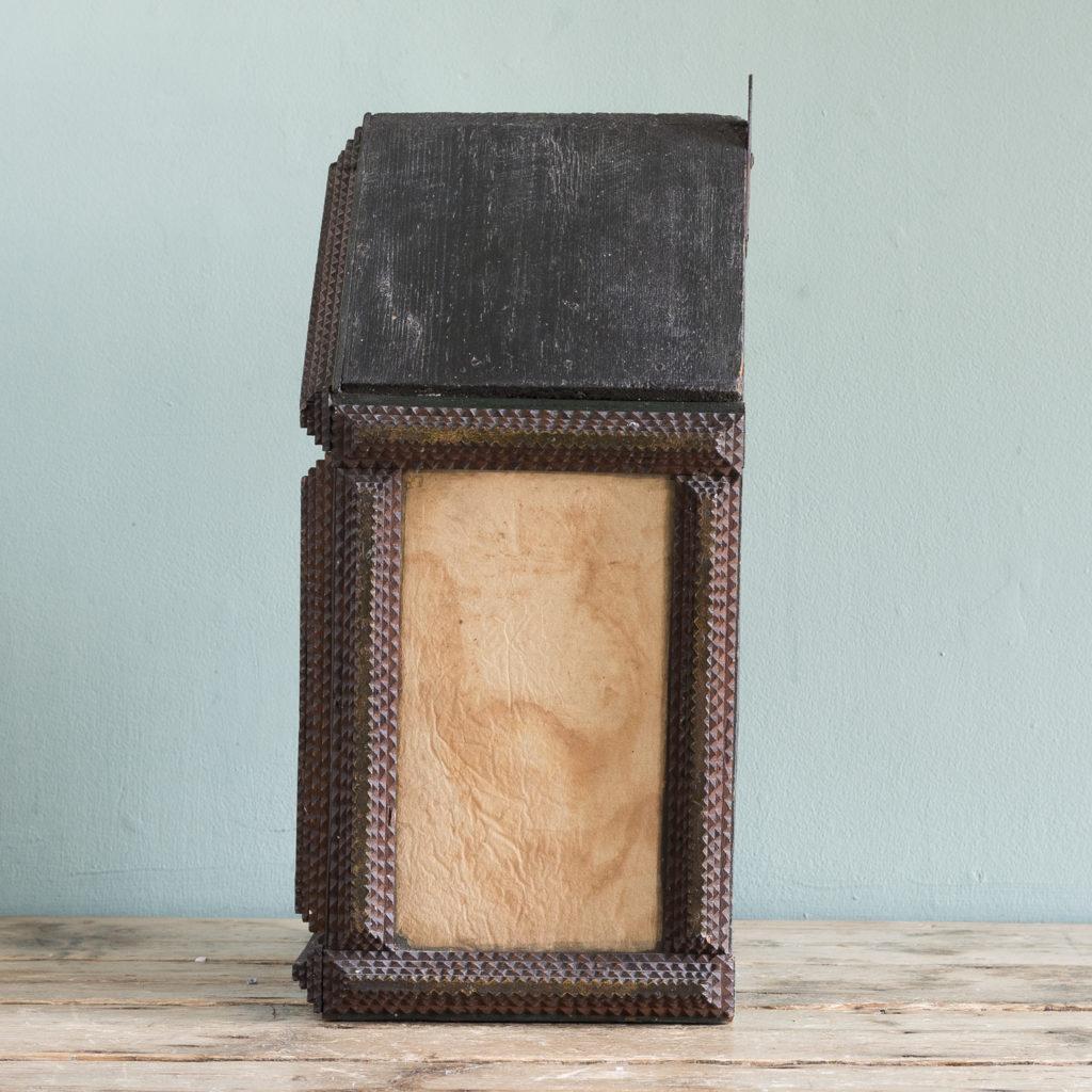 Tramp art wall cupboard,-119954