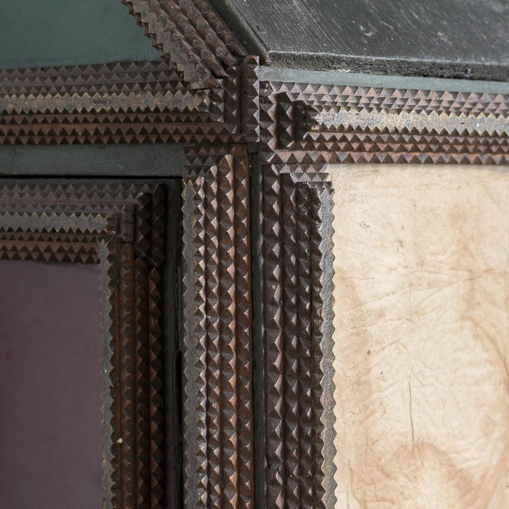Tramp art wall cupboard,-119960