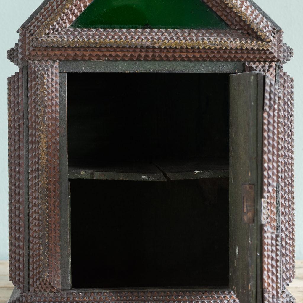 Tramp art wall cupboard,-119962