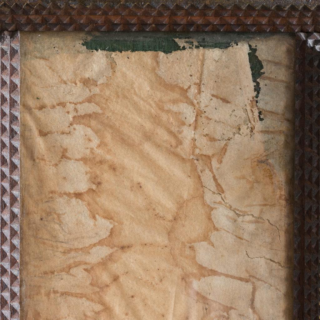 Tramp art wall cupboard,-119963