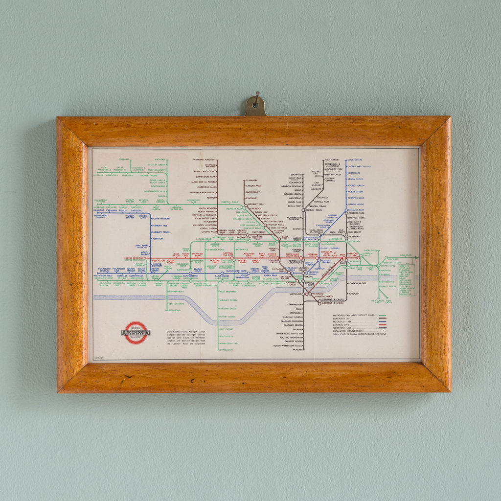 1945 London Underground Transport map,-0