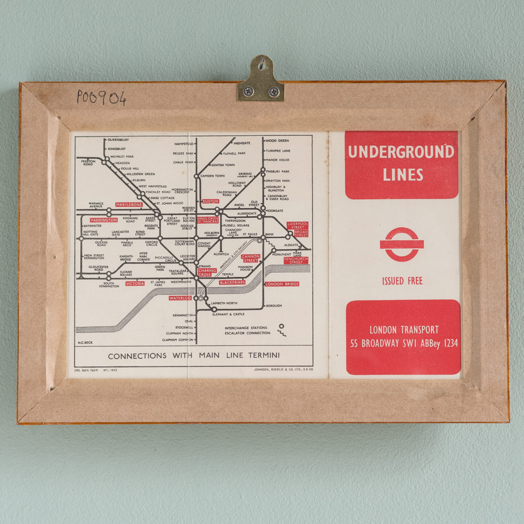 1945 London Underground Transport map,-118760