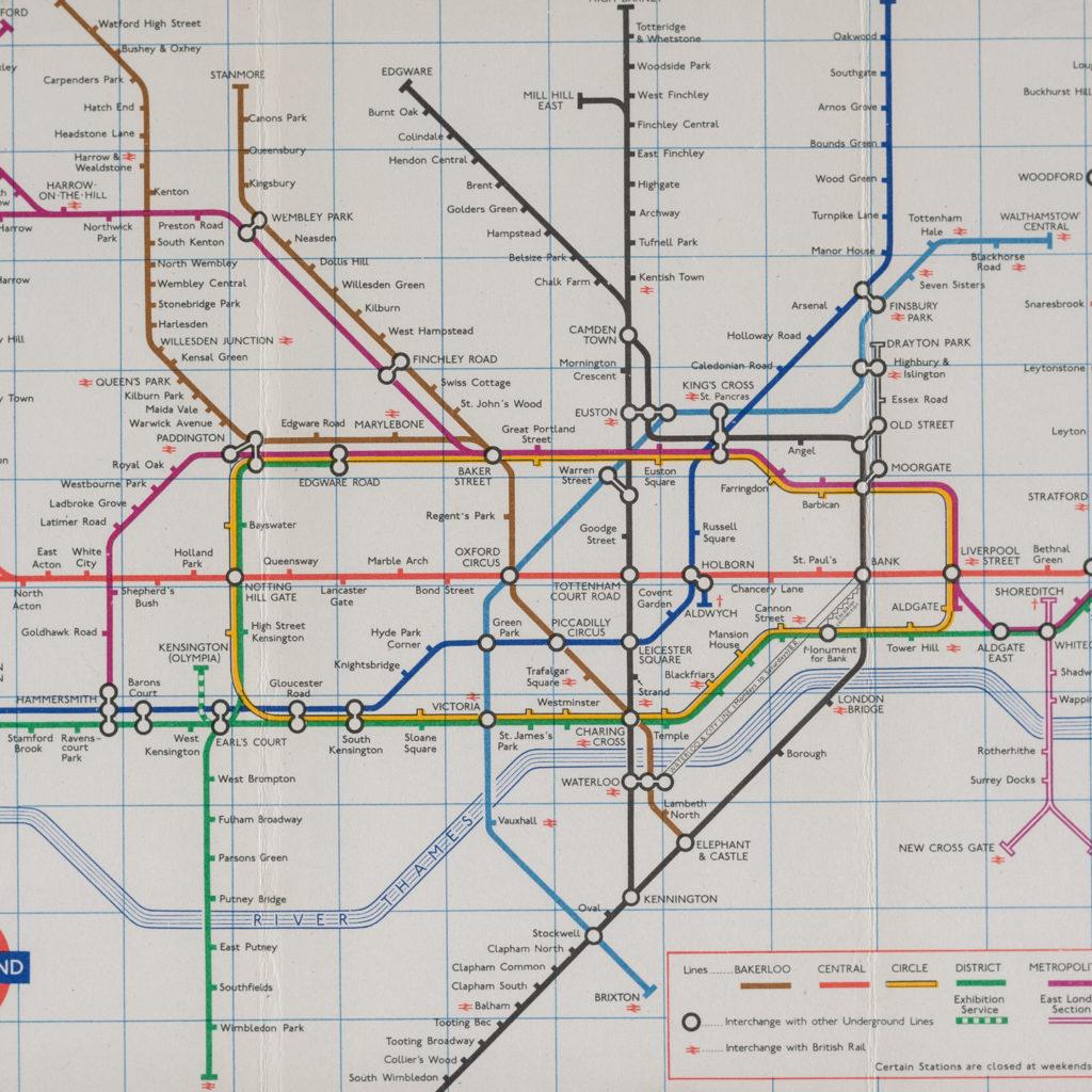 1971 London Underground Transport map,-118816