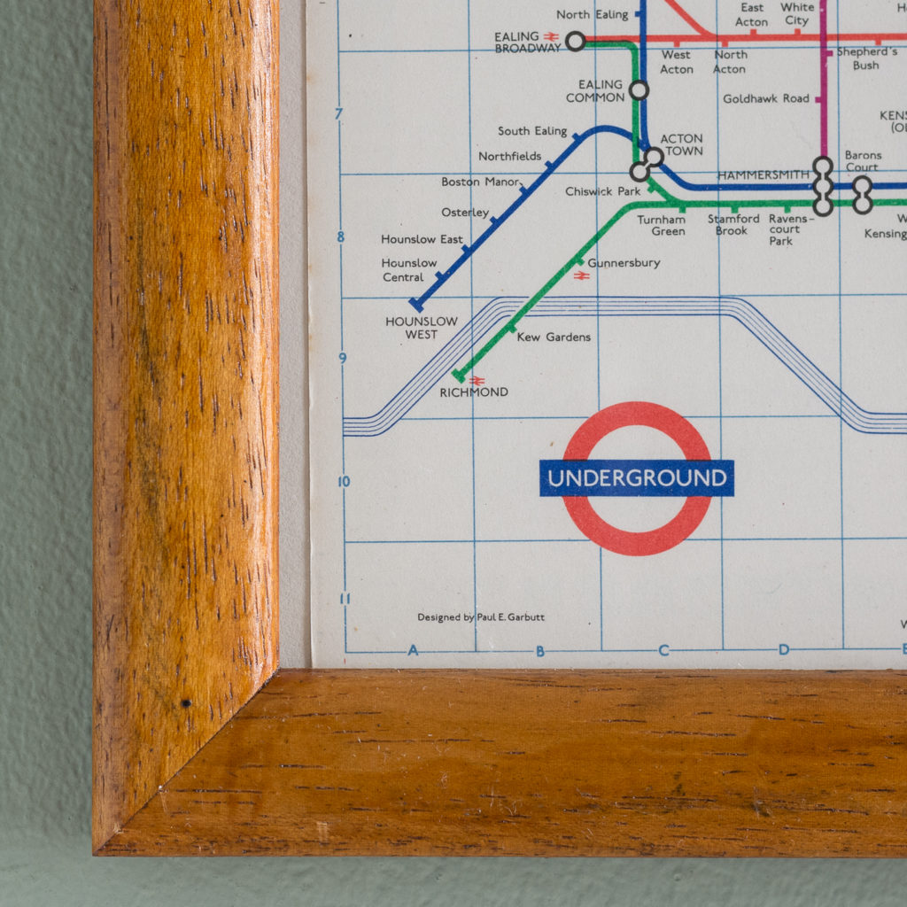 1971 London Underground Transport map,-118817
