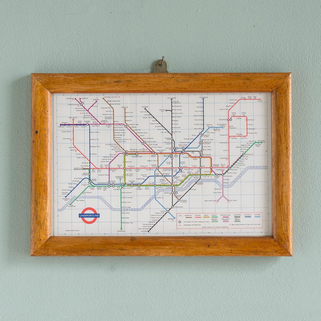1971 London Underground Transport map,-0