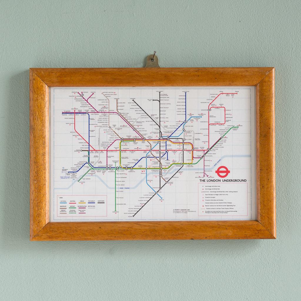 1977 London Underground Transport map,-0