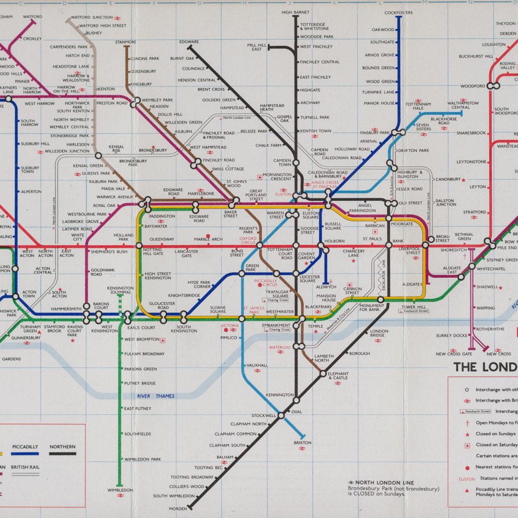 1977 London Underground Transport map,-118836