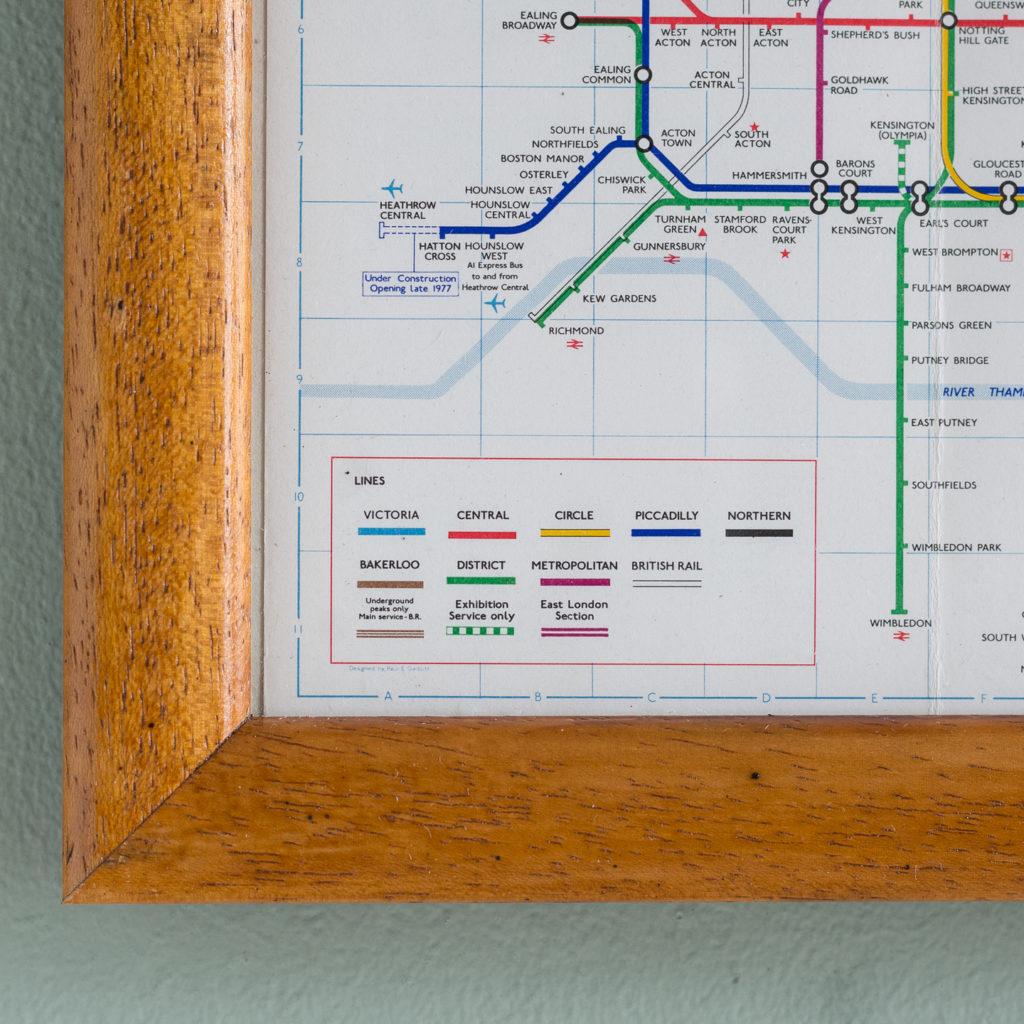 1977 London Underground Transport map,-118835