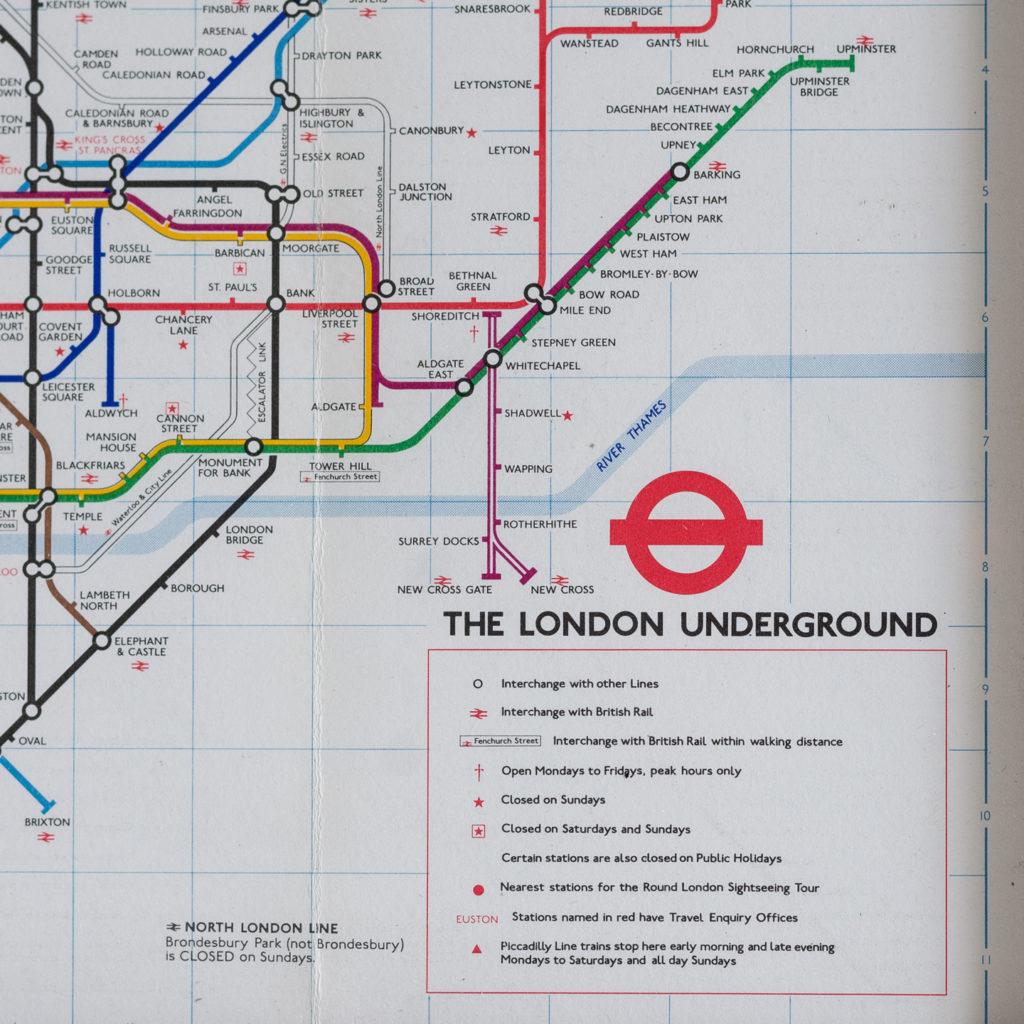 1977 London Underground Transport map,-118833