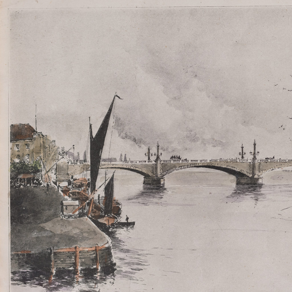 Proposed New Bridge at Vauxhall as designed Sir Alexander Binnie-119629