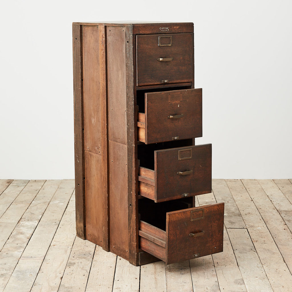 Reclaimed industrial wooden filing cabinet,-120677