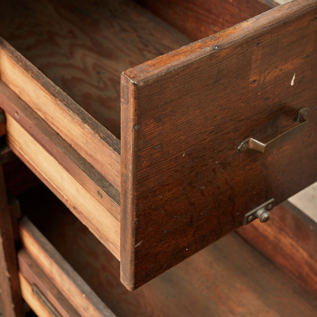 Reclaimed industrial wooden filing cabinet,-120676