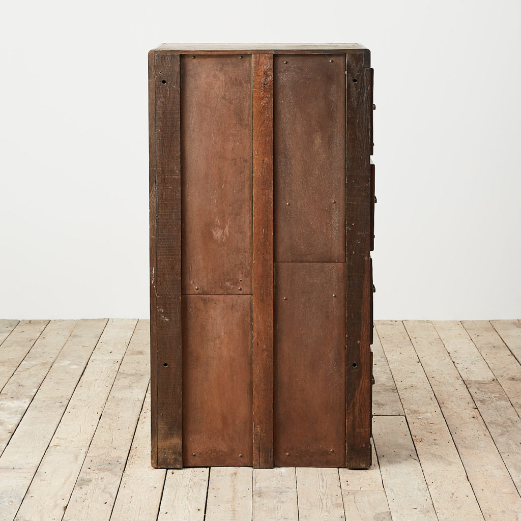 Reclaimed industrial wooden filing cabinet,-120672