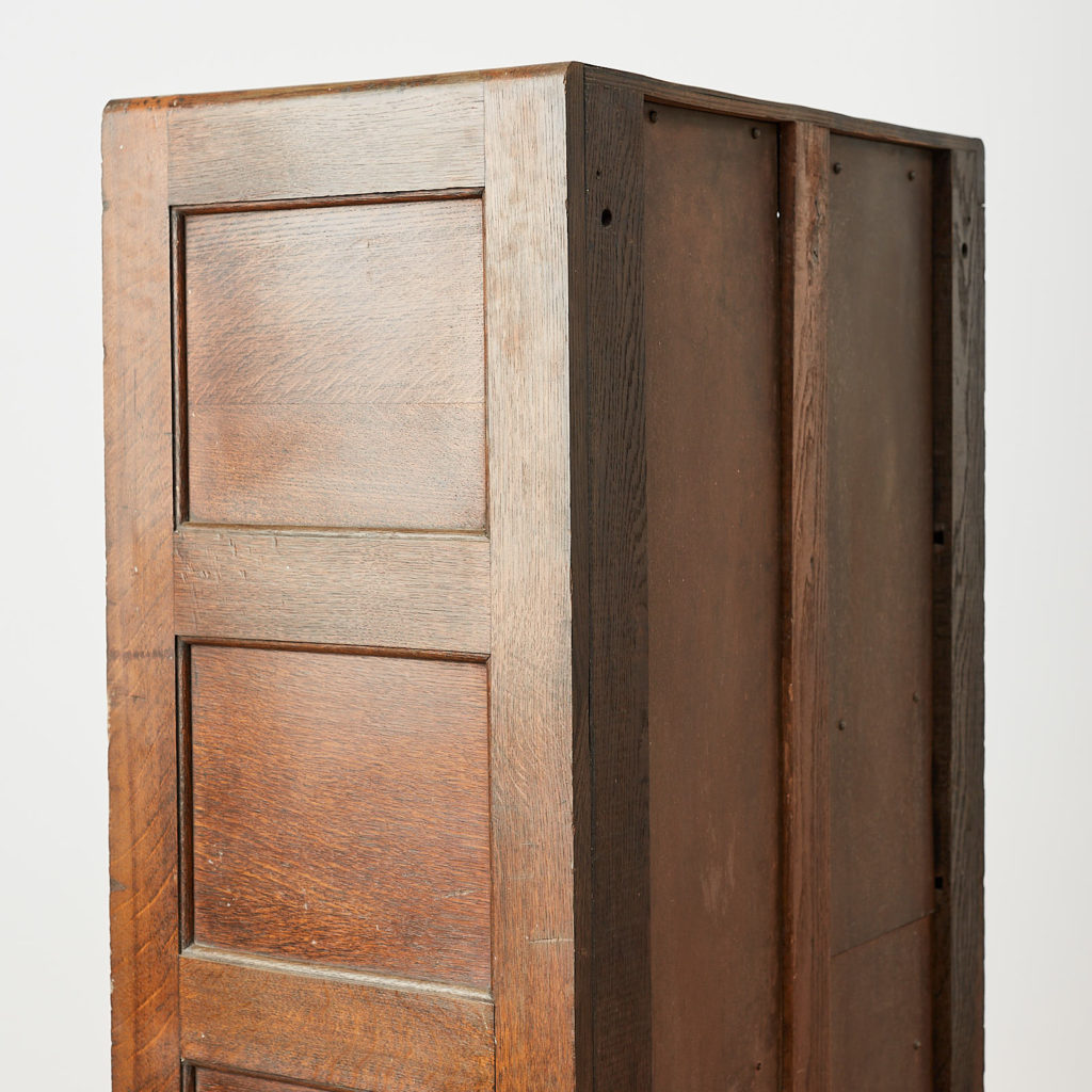 Reclaimed industrial wooden filing cabinet,-120665