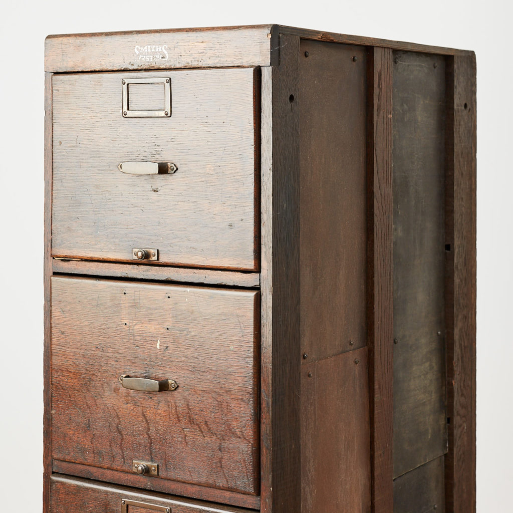 Reclaimed industrial wooden filing cabinet,-120671