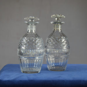 A pair of cut glass spirit decanters-0