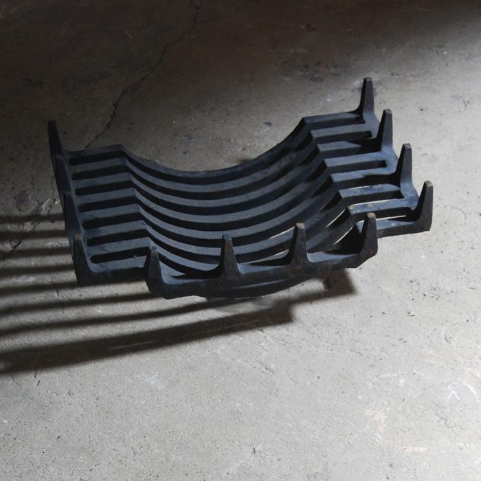 "An English cast-iron ""swan's-nest"" basket (small),-120558"