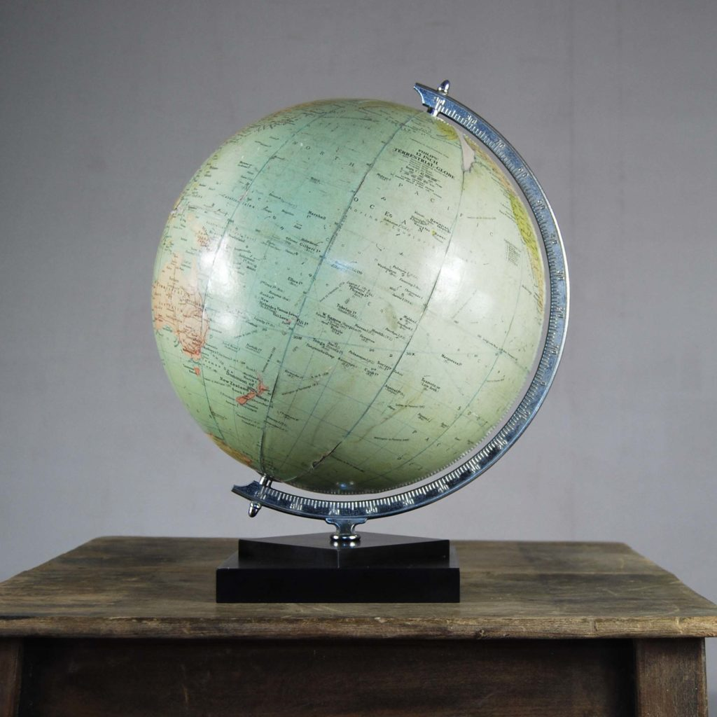 "A Philips' 12"" table globe-0"