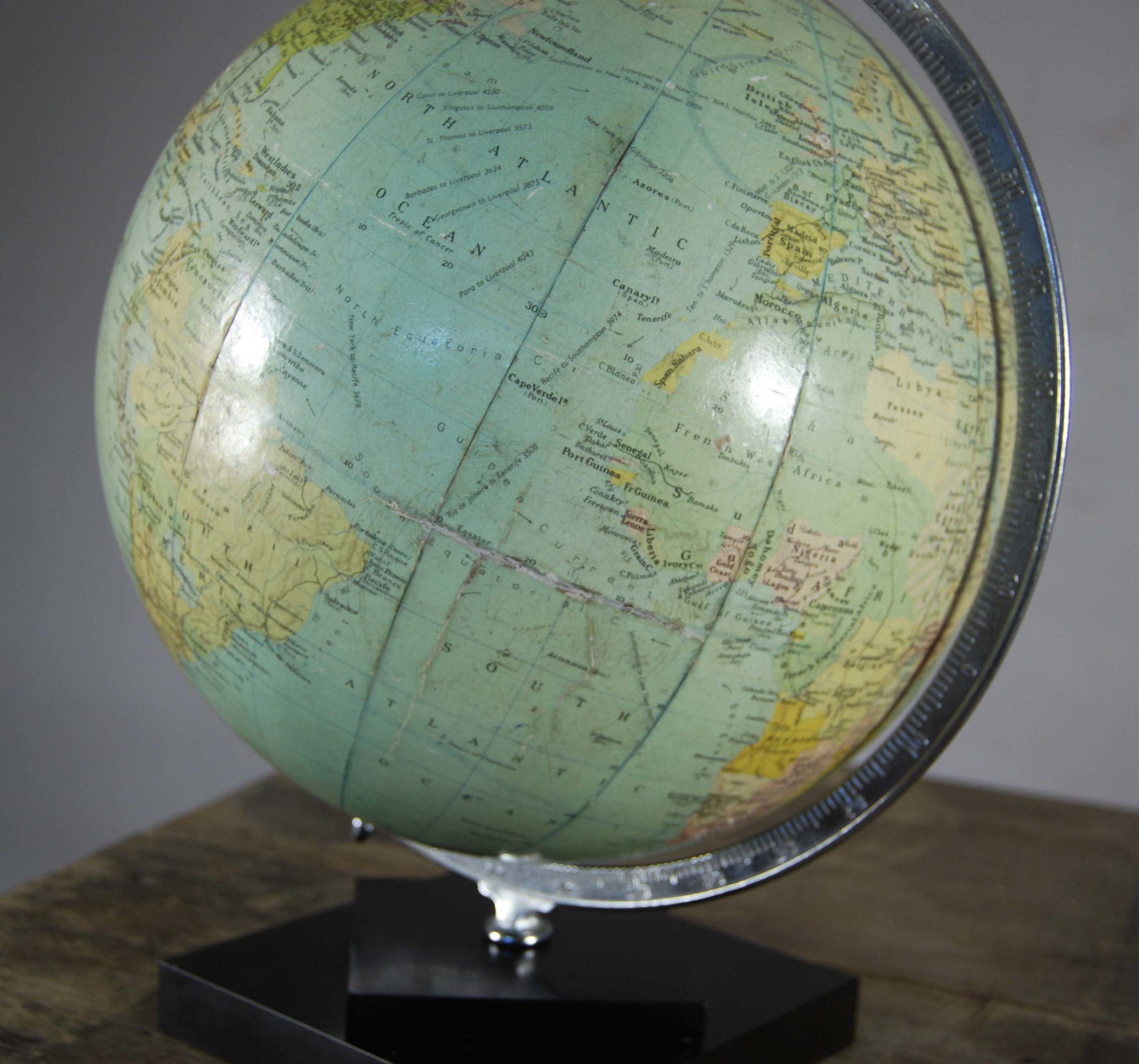 "A Philips' 12"" table globe-120823"