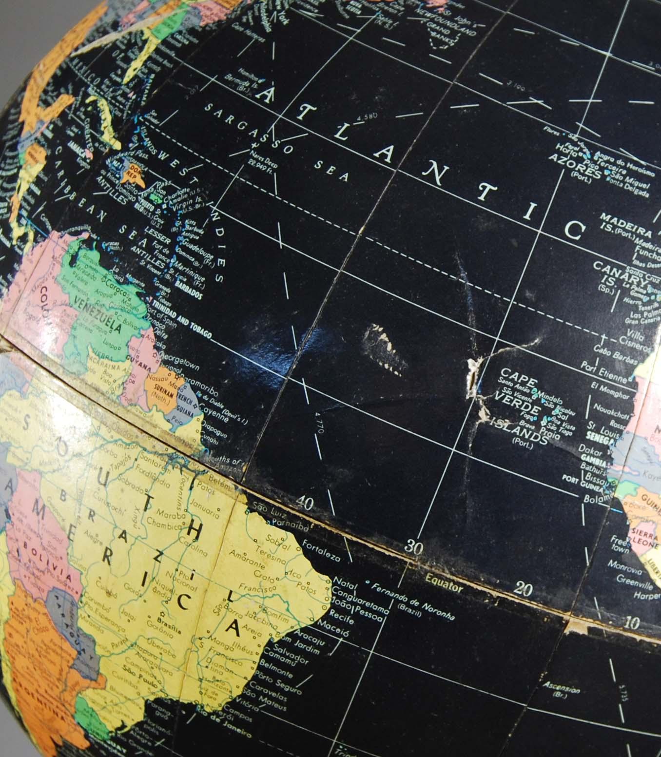 "A Philips' 12"" Blackbird table globe-120830"