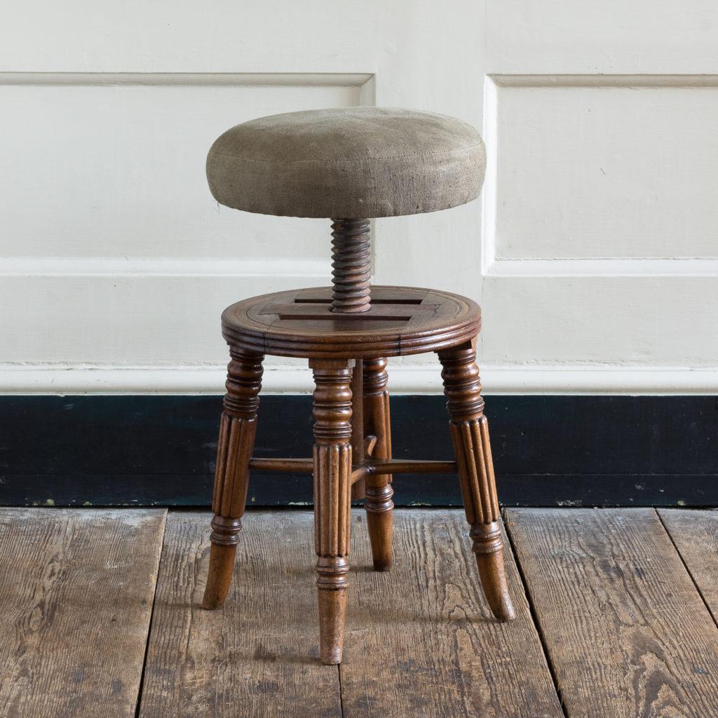 Early nineteenth century mahogany piano stool,-120369
