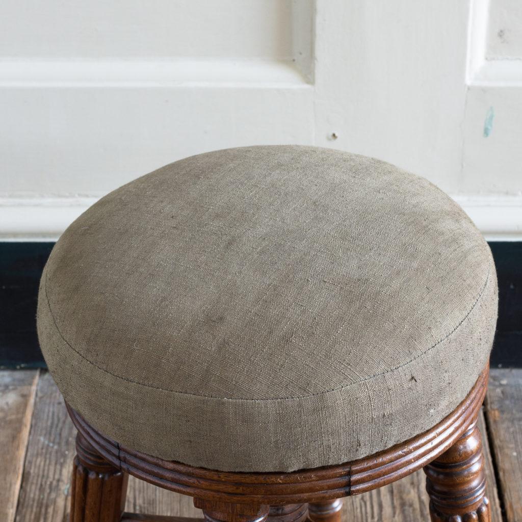 Early nineteenth century mahogany piano stool,-120377