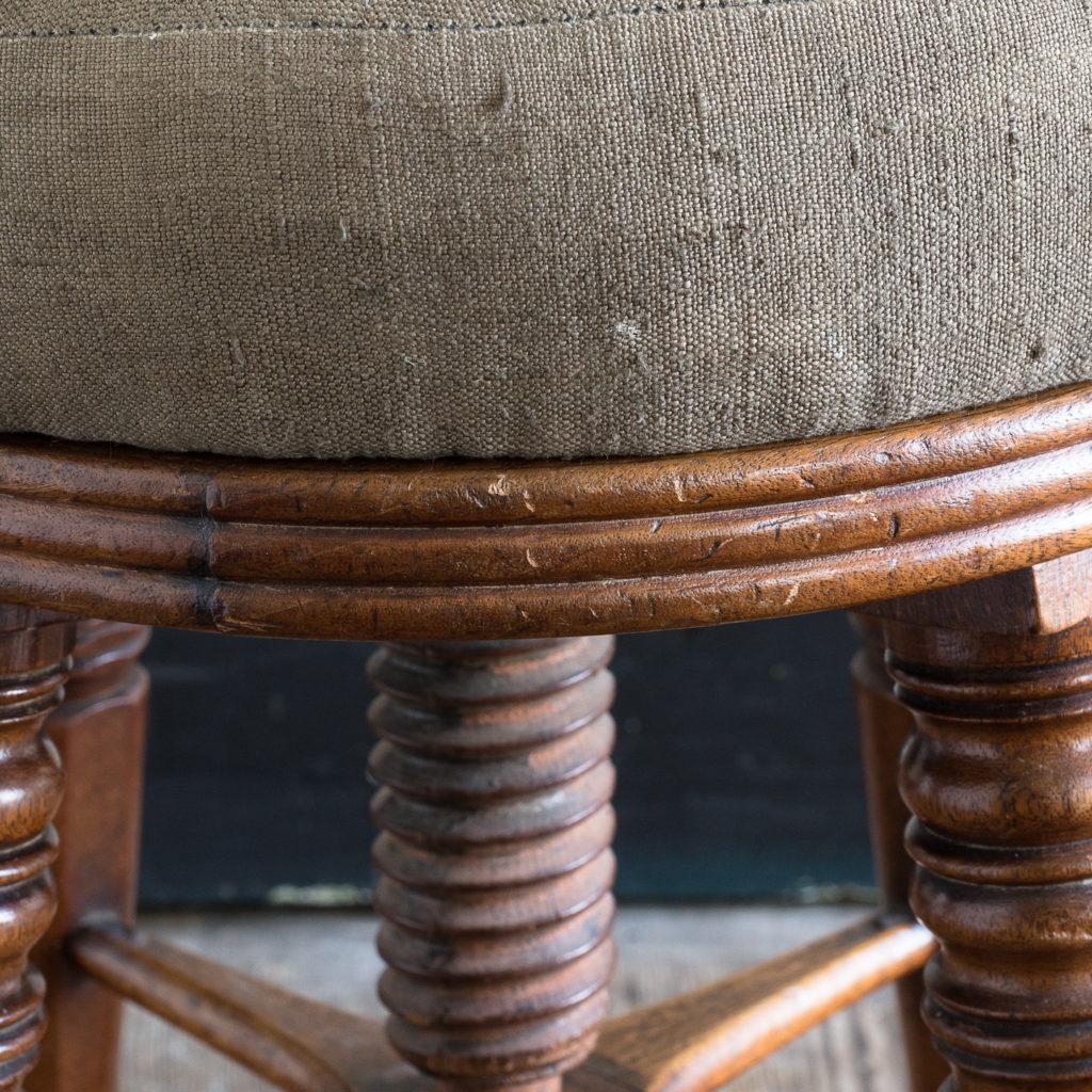 Early nineteenth century mahogany piano stool,-120379