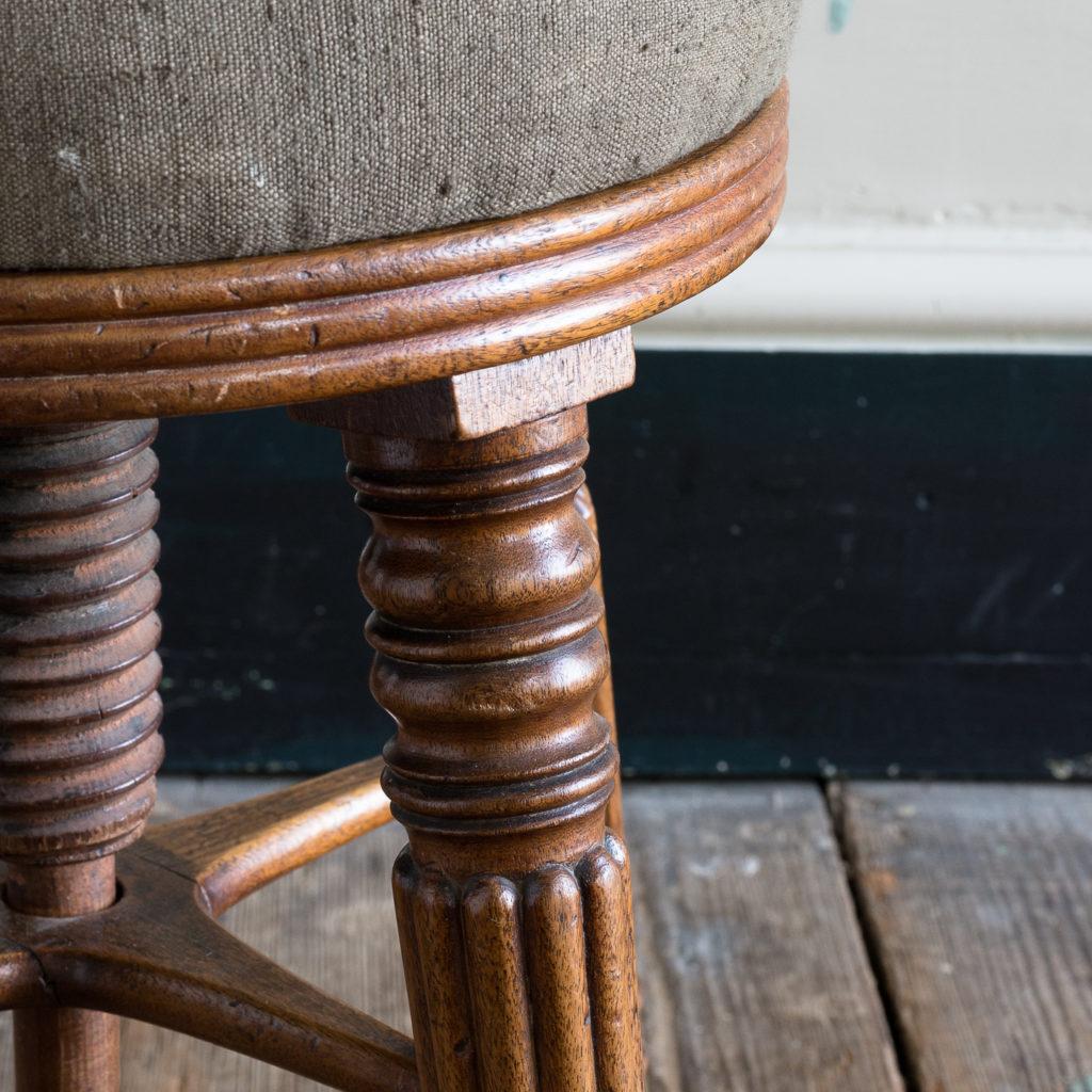 Early nineteenth century mahogany piano stool,-120381