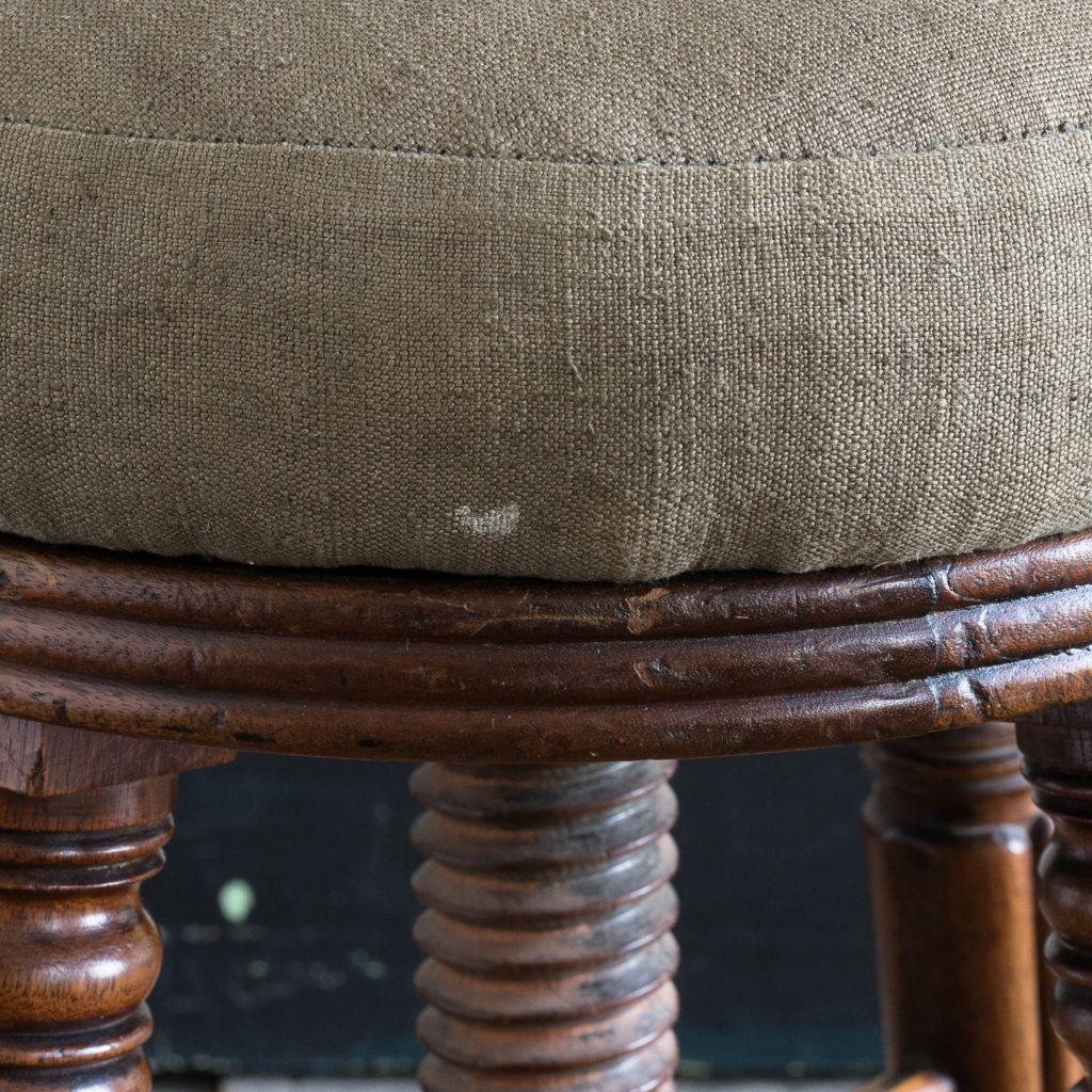 Early nineteenth century mahogany piano stool,-120372