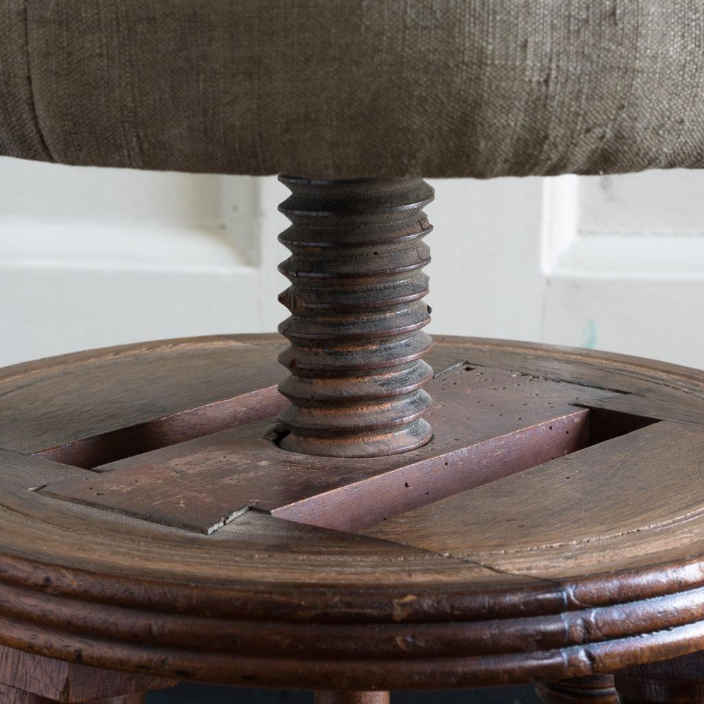 Early nineteenth century mahogany piano stool,-120380